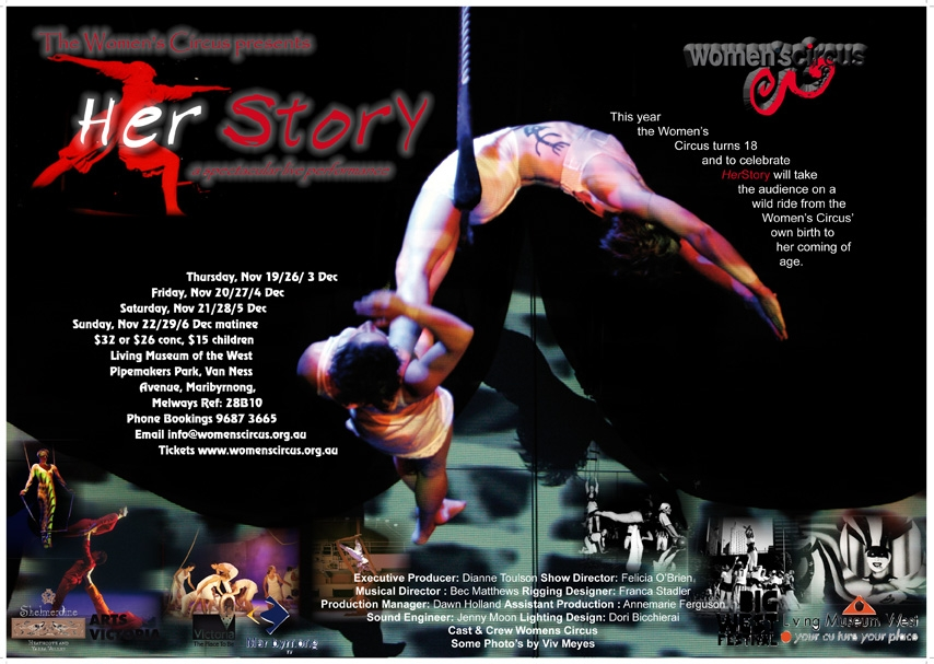 Her Story promotional poster, with different people performing.