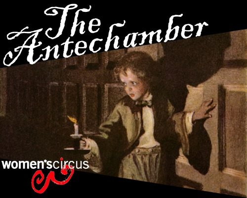 The Anechamber promotional poster, with a person holding a lit candle.